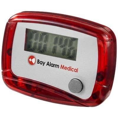 Picture of IN SHAPE PEDOMETER in Red-white Solid