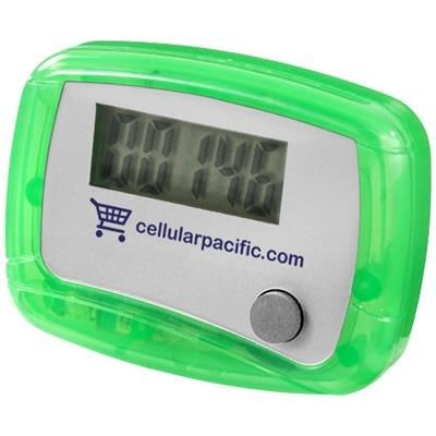 Picture of IN SHAPE PEDOMETER in Green-white Solid