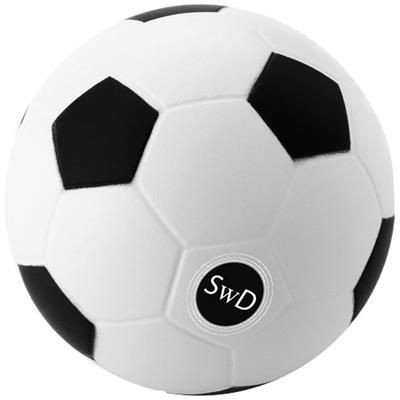 Picture of FOOTBALL STRESS RELIEVER in White Solid-black Solid
