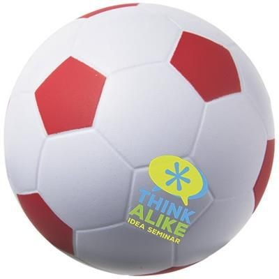 Picture of FOOTBALL STRESS RELIEVER in White Solid-red