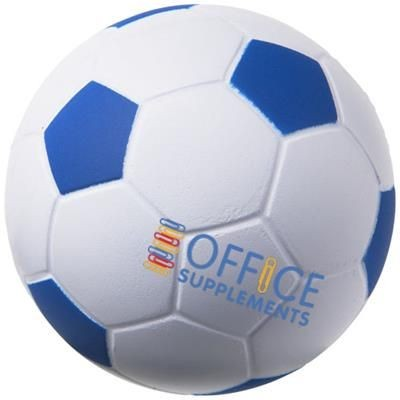 Picture of FOOTBALL STRESS RELIEVER in White Solid-royal Blue