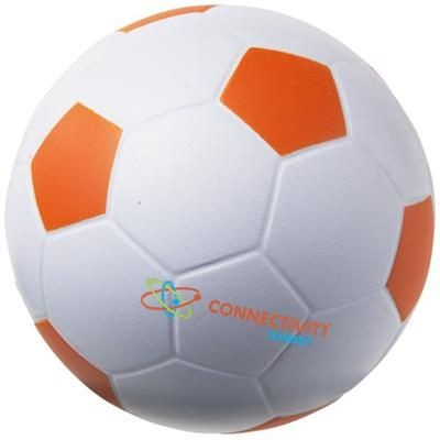 Picture of FOOTBALL STRESS RELIEVER in White Solid-orange