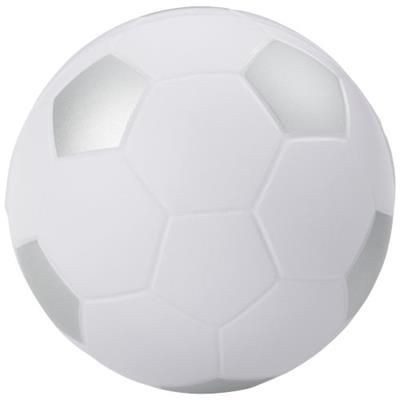 Picture of FOOTBALL STRESS RELIEVER in White Solid-silver