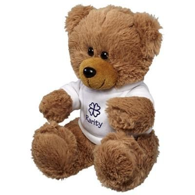 Picture of LARGE PLUSH SITTING BEAR with Shirt in White Solid