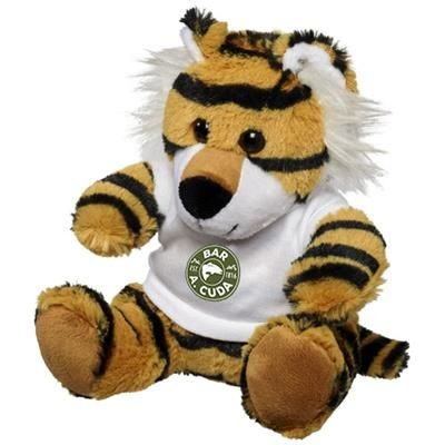 Picture of TIGER PLUSH with Shirt in White Solid