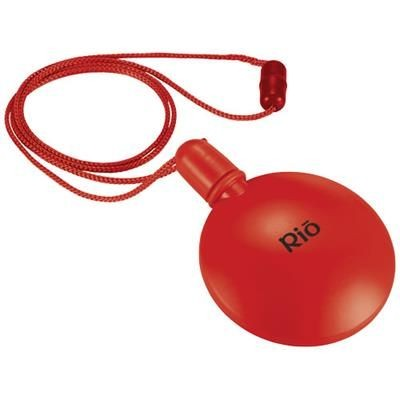 Picture of BLUBBER ROUND BUBBLE DISPENSER in Red