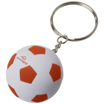 Picture of STRIKER FOOTBALL KEYRING CHAIN in White Solid-orange