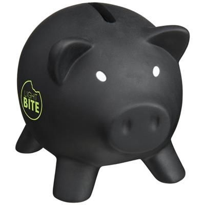 Picture of PIGGY COIN BANK in Black Solid