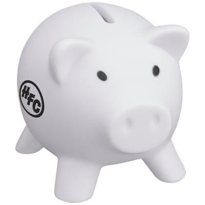 Picture of PIGGY COIN BANK in White Solid