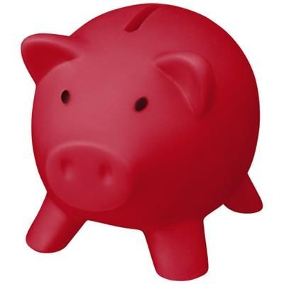 Picture of PIGGY COIN BANK in Red