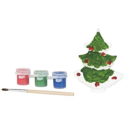 Picture of PAINT CHRISTMAS TREE in White Solid