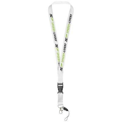 Picture of SAGAN MOBILE PHONE HOLDER LANYARD with Detachable Buckle in White Solid