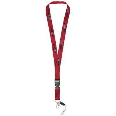 Picture of SAGAN MOBILE PHONE HOLDER LANYARD with Detachable Buckle in Red