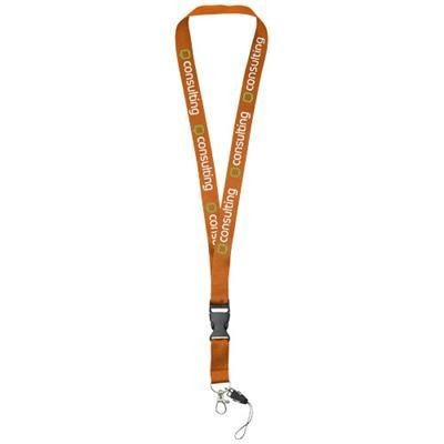 Picture of SAGAN MOBILE PHONE HOLDER LANYARD with Detachable Buckle in Orange