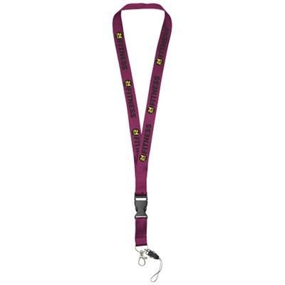 Picture of SAGAN MOBILE PHONE HOLDER LANYARD with Detachable Buckle in Burgundy