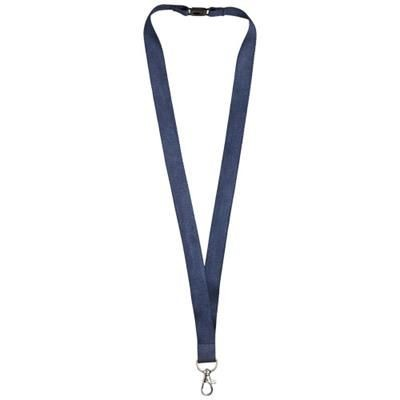 Picture of JULIAN BAMBOO LANYARD with Safety Clip in Navy