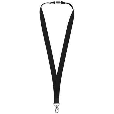 Picture of DYLAN COTTON LANYARD with Safety Clip in Black Solid
