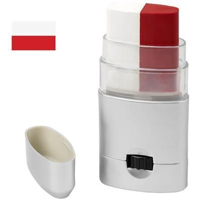 Picture of VELOX BODY PAINT - POLAND in White Solid-red