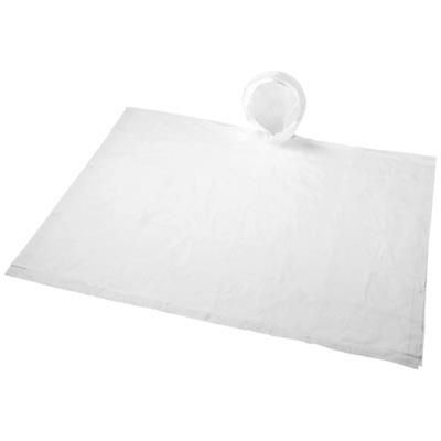 Picture of PAULUS FOLDING PONCHO in Pouch in White Solid