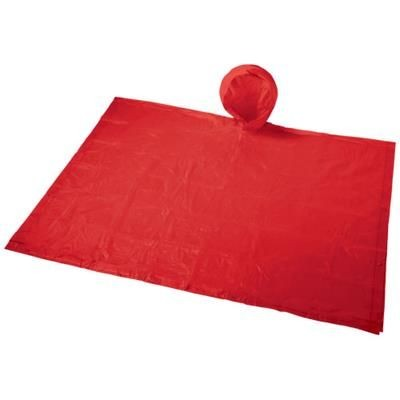 Picture of PAULUS FOLDING PONCHO in Pouch in Red