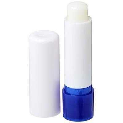 Picture of DEALE LIP BALM STICK in White Solid-royal Blue