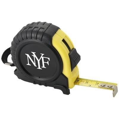 Picture of CLIFF 3 METRE MEASURING TAPE in Black Solid-yellow