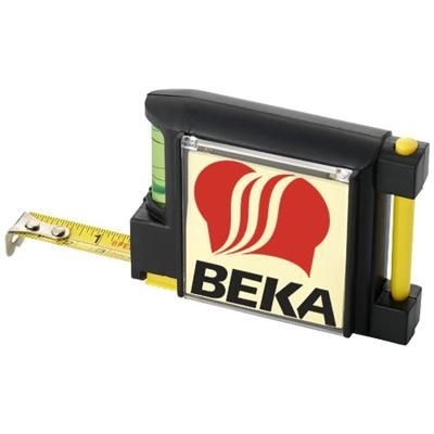 Picture of DUNK 2 METRE MEASURING TAPE with Leveller in Black Solid-yellow
