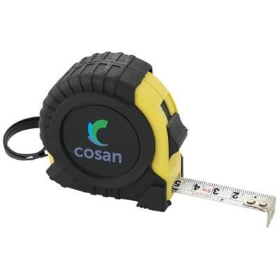 Picture of EVAN 5 METRE MEASURING TAPE in Black Solid-yellow