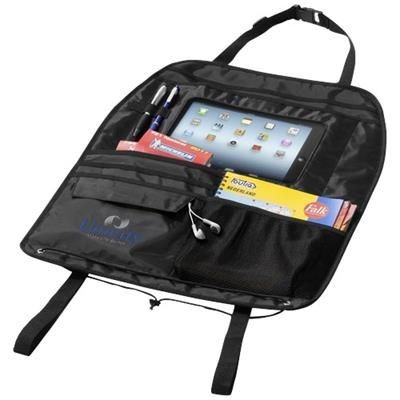 Picture of MILLY BACK SEAT ORGANIZER with Tablet Compartment in Black Solid