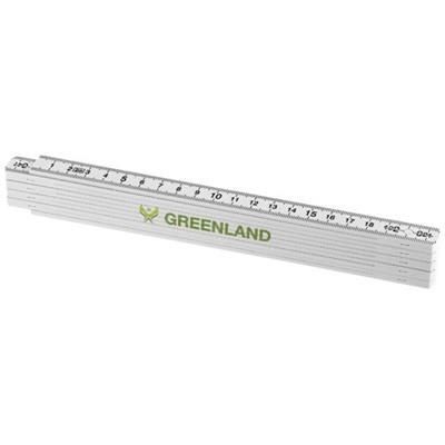 Picture of MONTY 2 METRE FOLDING RULER in White Solid
