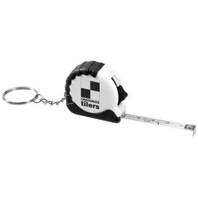 Picture of HABANA 1 METRE MEASURING TAPE with Keyring Chain in White Solid