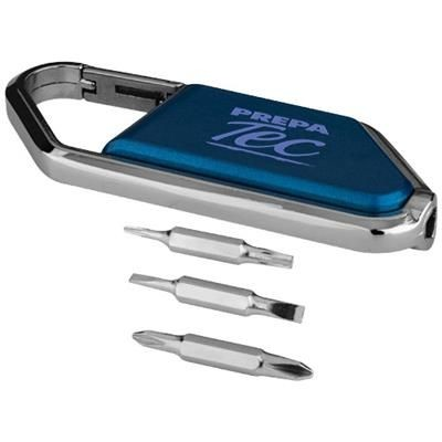Picture of IFIX CARABINER SCREWDRIVER KIT in Blue-silver