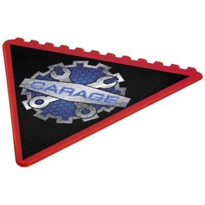 Picture of FROSTY TRIANGULAR ICE SCRAPER in Red