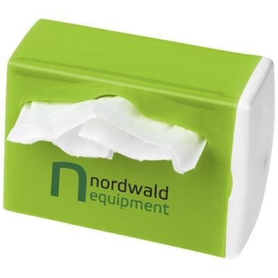 Picture of ROADTRIP WASTE BAG DISPENSER in White Solid-lime Green