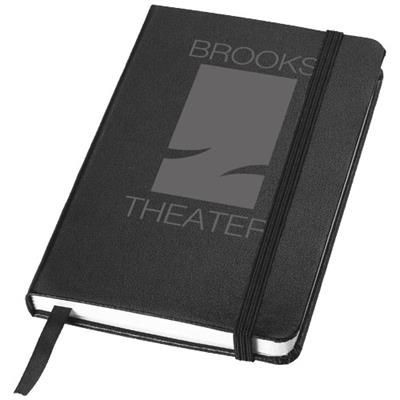 Picture of CLASSIC A6 HARD COVER POCKET NOTE BOOK in Black Solid
