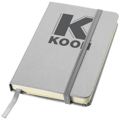 Picture of CLASSIC A6 HARD COVER POCKET NOTE BOOK in Silver