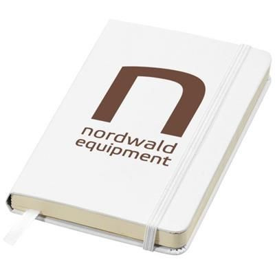 Picture of CLASSIC A6 HARD COVER POCKET NOTE BOOK in White Solid