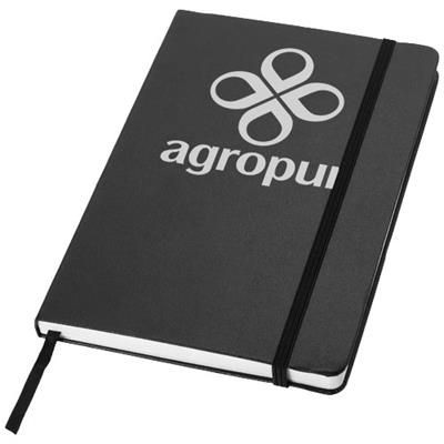 Picture of CLASSIC A5 HARD COVER NOTE BOOK in Black Solid