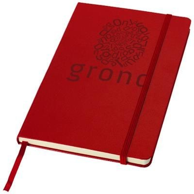 Picture of CLASSIC A5 HARD COVER NOTE BOOK in Red