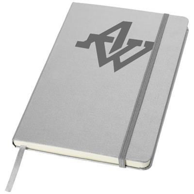 Picture of CLASSIC A5 HARD COVER NOTE BOOK in Silver