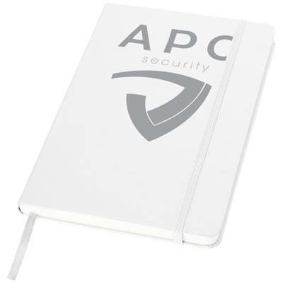 Picture of CLASSIC A5 HARD COVER NOTE BOOK in White Solid