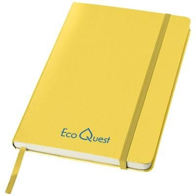 Picture of CLASSIC A5 HARD COVER NOTE BOOK in Yellow