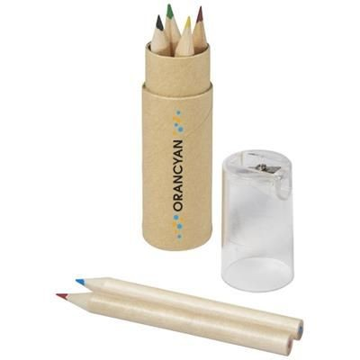 Picture of KRAM 7-PIECE COLOUR PENCIL SET in Transparent Clear Transparent