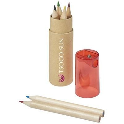 Picture of KRAM 7-PIECE COLOUR PENCIL SET in Red