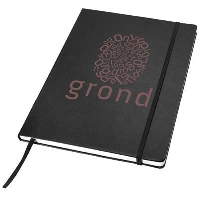 Picture of EXECUTIVE A4 HARD COVER NOTE BOOK in Black Solid