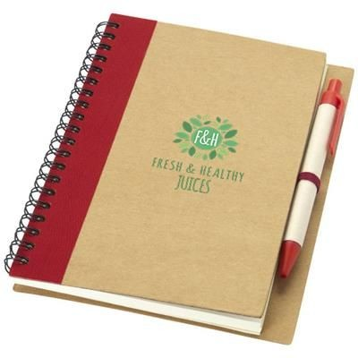 Picture of PRIESTLY RECYCLED NOTE BOOK with Pen in Natural-red