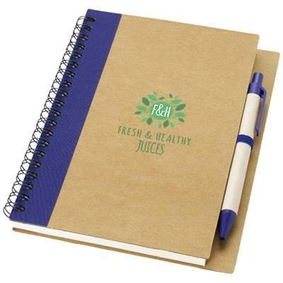 Picture of PRIESTLY RECYCLED NOTE BOOK with Pen in Natural-navy