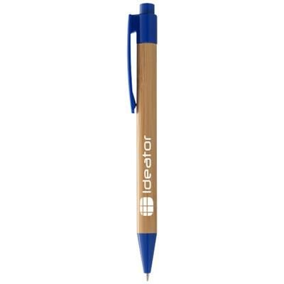 Picture of BORNEO BAMBOO BALL PEN in Natural-royal Blue