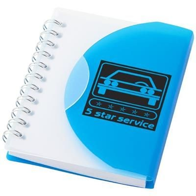 Picture of POST A7 SPIRAL NOTE BOOK with Blank Pages in Blue-transparent