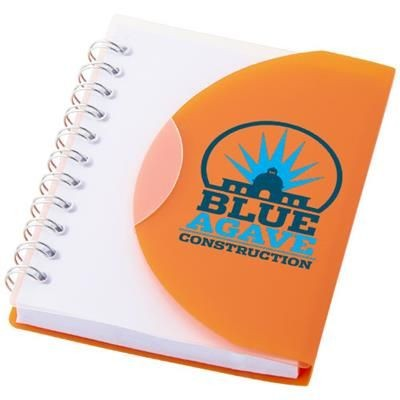 Picture of POST A7 SPIRAL NOTE BOOK with Blank Pages in Orange-transparent